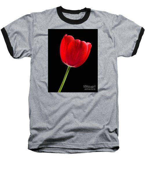 Baseball T-Shirt featuring the photograph Red Tulip No. 1  - By Flower Photographer David Perry Lawrence by David Perry Lawrence