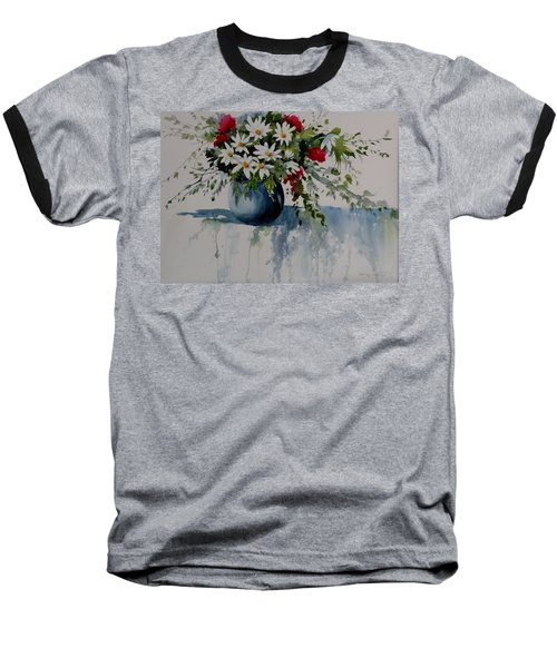 Red White And Blue Bouquet Baseball T-Shirt