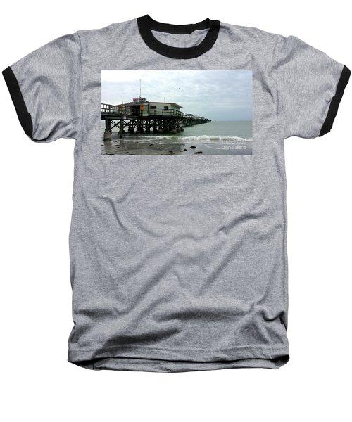 Redington Beach, Florida Fishing Pier Baseball T-Shirt by Scott D Van Osdol
