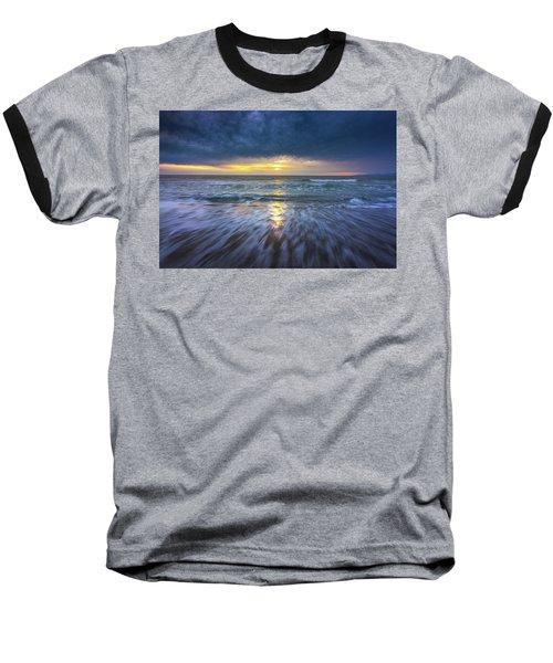 Redondo Beach Sunset Baseball T-Shirt
