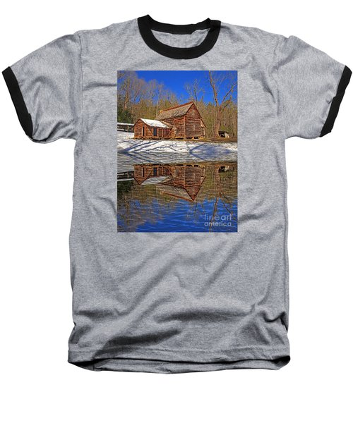 Baseball T-Shirt featuring the photograph Reflections by Geraldine DeBoer