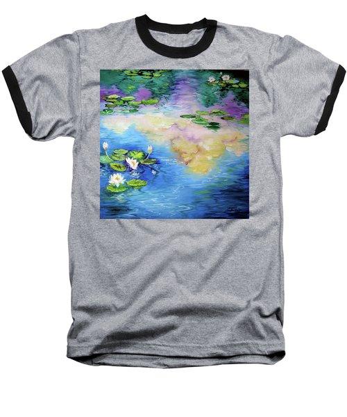 Reflections On A Waterlily Pond Baseball T-Shirt