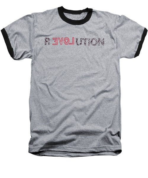 Baseball T-Shirt featuring the drawing Revolution by Bill Cannon