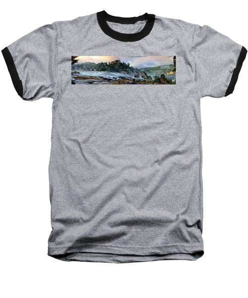 Rhinefalls, Switzerland Baseball T-Shirt by Elenarts - Elena Duvernay photo