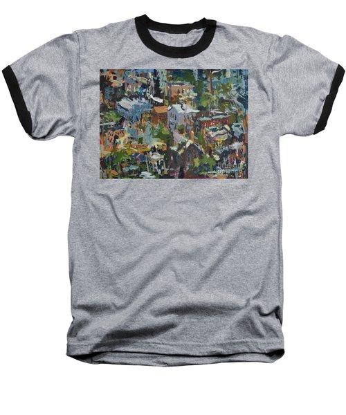 Richmond Virginia Cityscape Painting Baseball T-Shirt by Robert Joyner