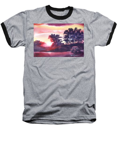 Baseball T-Shirt featuring the painting Road To Fargo by Marilyn Jacobson