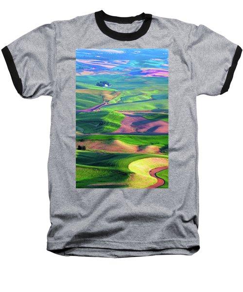 Green Hills Of The Palouse Baseball T-Shirt by James Hammond