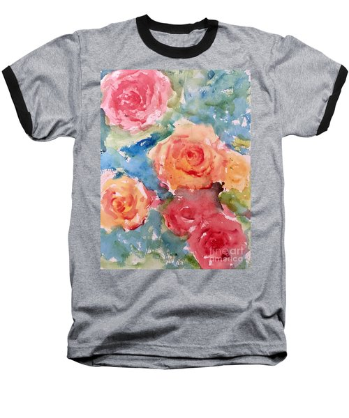 Roses Baseball T-Shirt by Trilby Cole