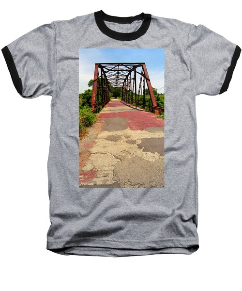 Route 66 - One Lane Bridge Baseball T-Shirt