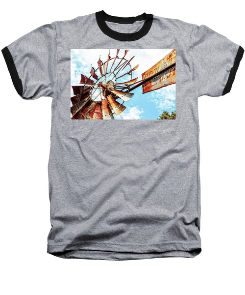 Rusted Windmill Baseball T-Shirt
