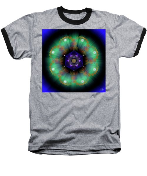 Sacred Geometry 638 Baseball T-Shirt by Endre Balogh