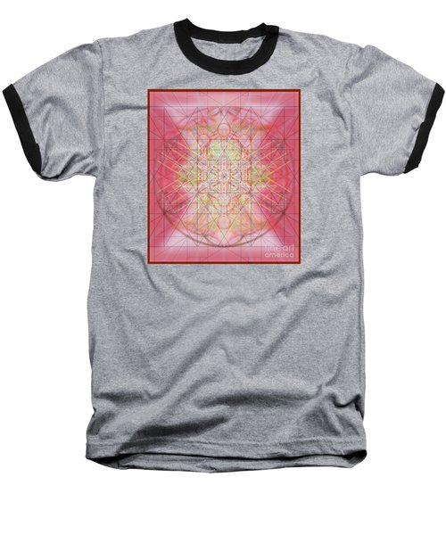 Sacred Symbols Out Of The Void 1b Baseball T-Shirt by Christopher Pringer