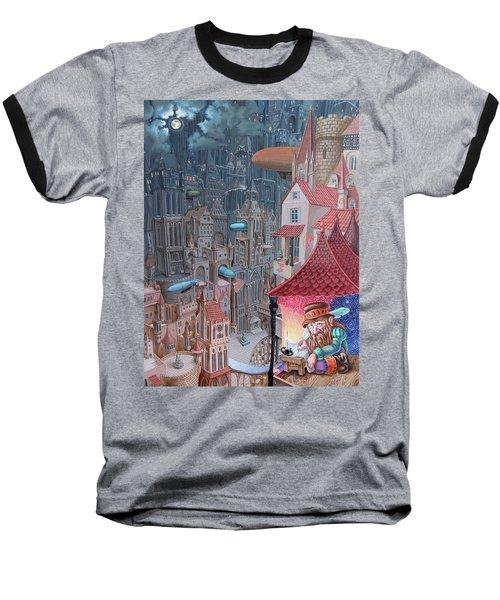 Saga Of The City Of Zeppelins Baseball T-Shirt