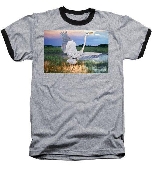 Sail Into Sunset Baseball T-Shirt by Judy Kay