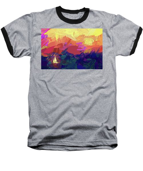 Baseball T-Shirt featuring the photograph Sailing by James Bethanis
