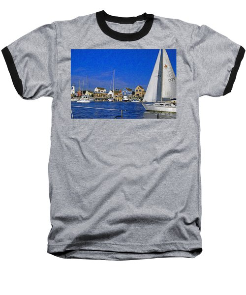 Baseball T-Shirt featuring the photograph Sailing Marina Del Rey Fisherman's Village by David Zanzinger
