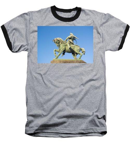 Baseball T-Shirt featuring the photograph Salavat Yulaev Ufa Russian Hero by John Williams