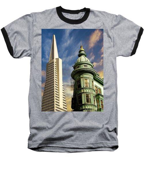 San Francisco Then And Now Baseball T-Shirt