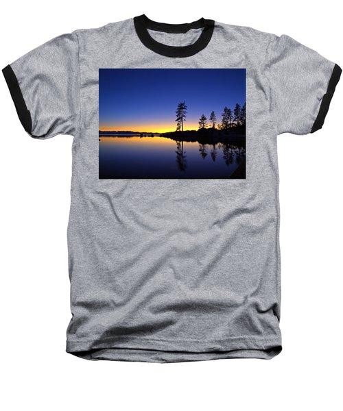 Sand Harbor Sunset Baseball T-Shirt