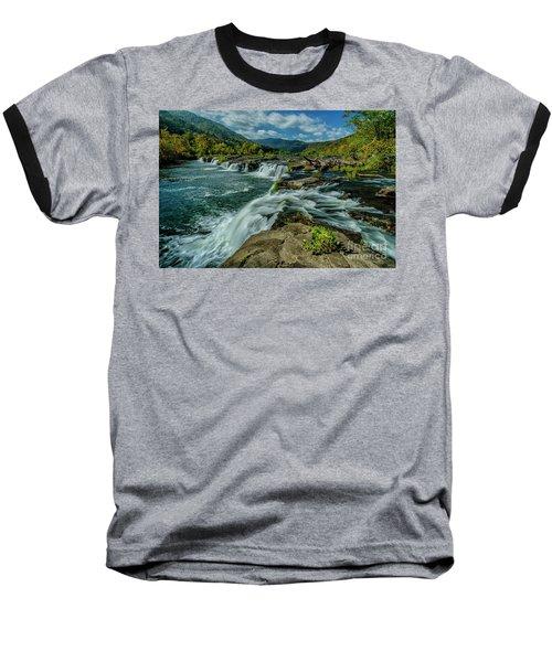 Sandstone Falls New River Baseball T-Shirt