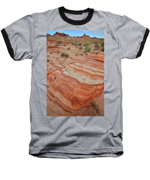 Baseball T-Shirt featuring the photograph Sandstone Stripes In Valley Of Fire by Ray Mathis