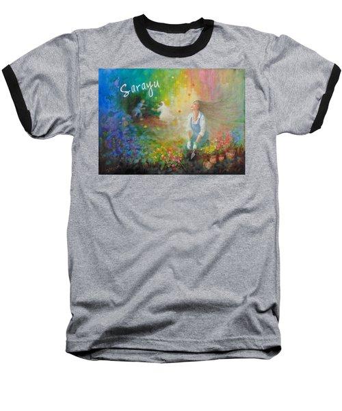 Sarayu Baseball T-Shirt by Janet McGrath