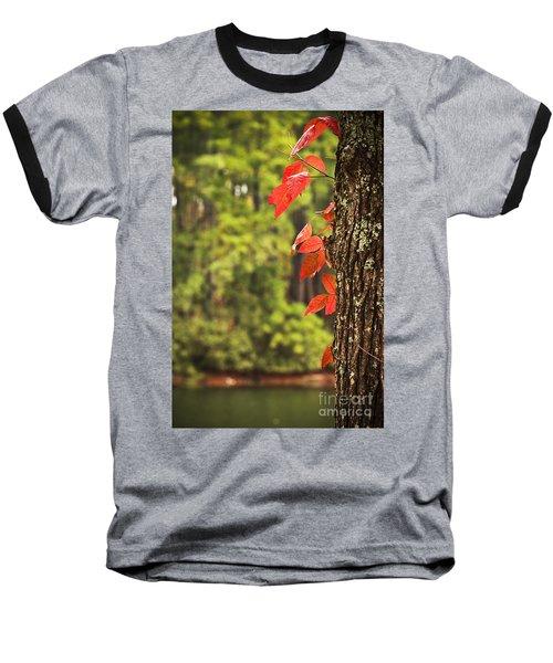 Scenic Elder Lake Baseball T-Shirt