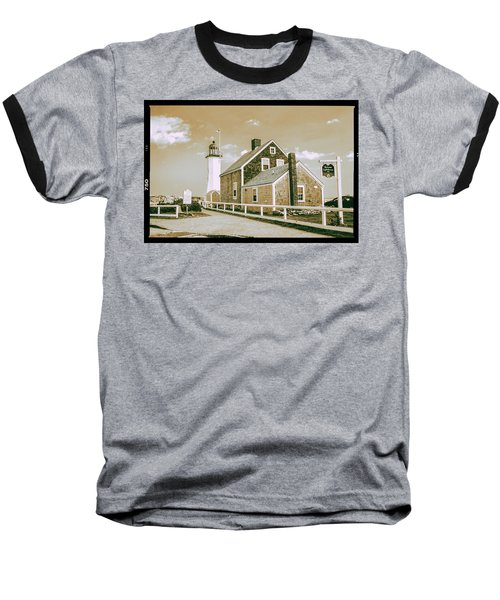 Scituate Lighthouse In Scituate, Ma Baseball T-Shirt