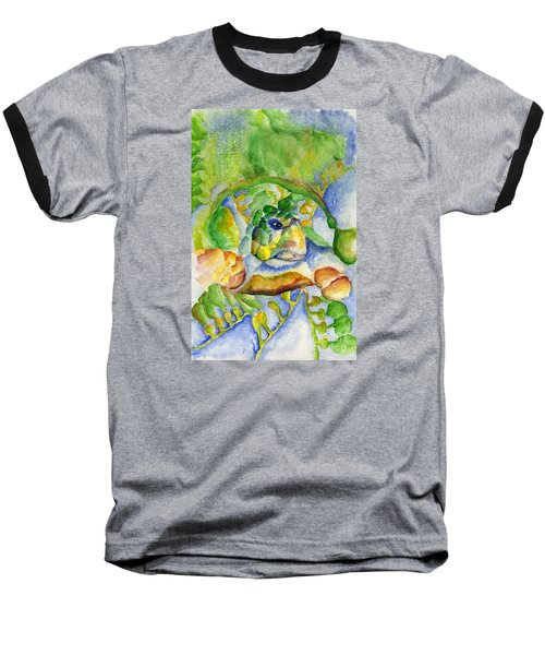 Sea Turtle Hideaway Baseball T-Shirt by Tamyra Crossley