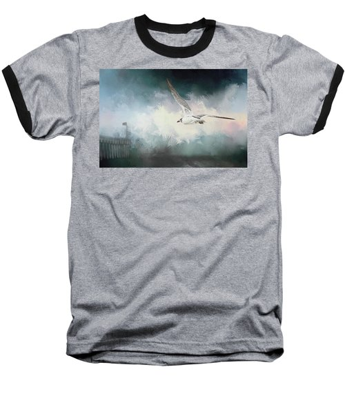Seagull In Flight Baseball T-Shirt