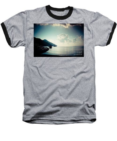 Seascape Sunrise Sea And Clouds  Baseball T-Shirt