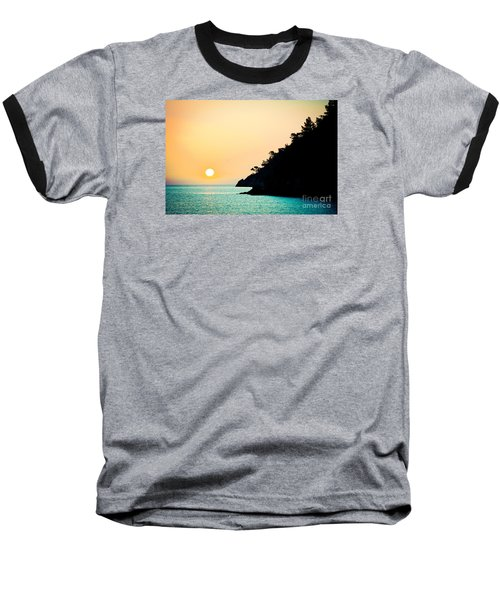 Seascape Sunrise Sea And Sun Baseball T-Shirt