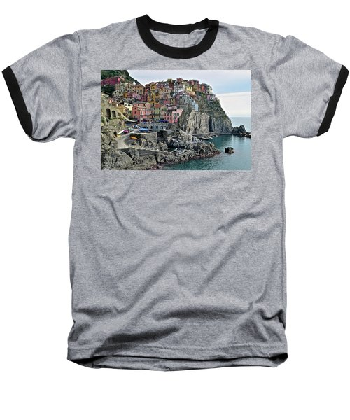 Baseball T-Shirt featuring the photograph Seaside Village by Frozen in Time Fine Art Photography