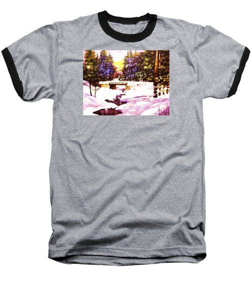 Baseball T-Shirt featuring the painting Seasonal  Change by Al Brown