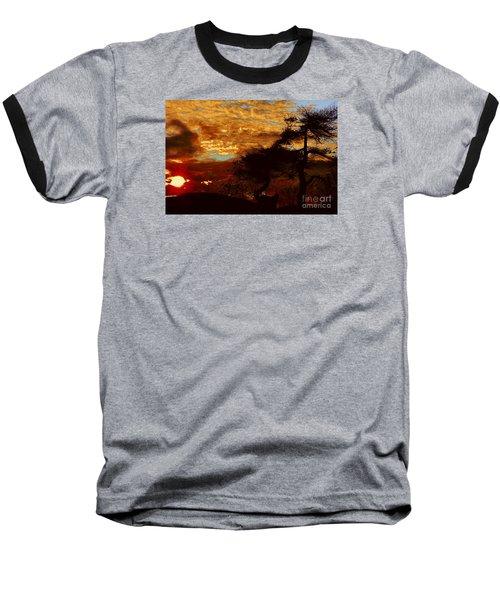 Sechelt Tree 2 Baseball T-Shirt by Elaine Hunter