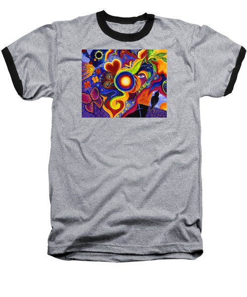 Magical Eclipse Baseball T-Shirt by Marina Petro
