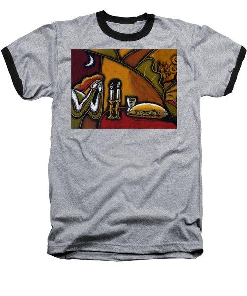 Shabbat Shalom Baseball T-Shirt