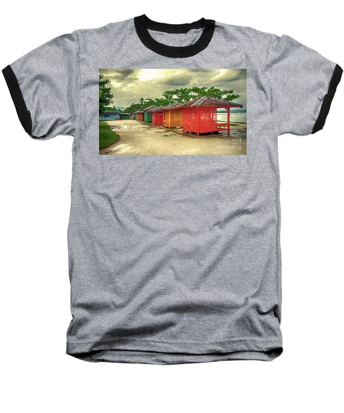Baseball T-Shirt featuring the photograph Shacks by Charuhas Images