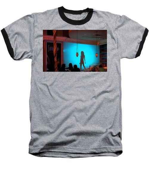 Shadow On The Wall Baseball T-Shirt by Viktor Savchenko
