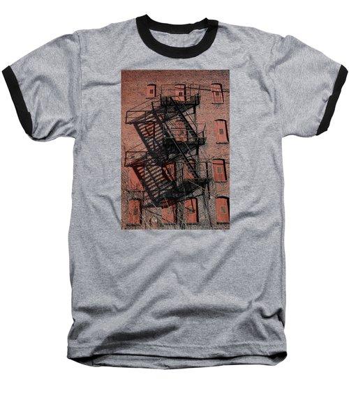 Shadows Baseball T-Shirt by Karen Harrison