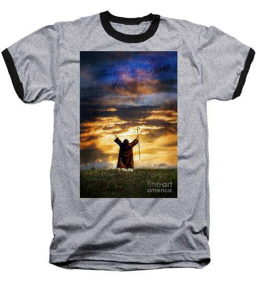 Shepherd Arms Up In Praise Baseball T-Shirt
