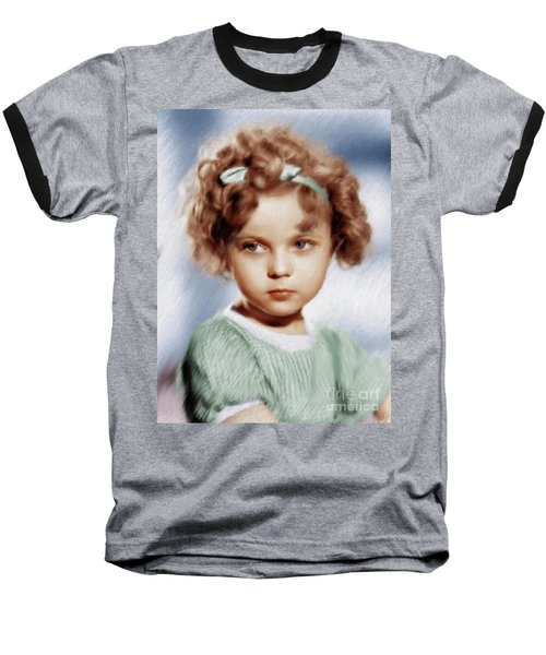 Shirley Temple, Vintage Actress Baseball T-Shirt