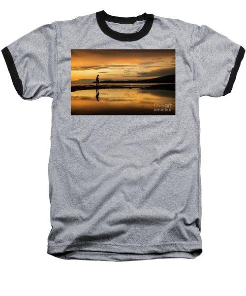 Silhouette In Sunset Baseball T-Shirt