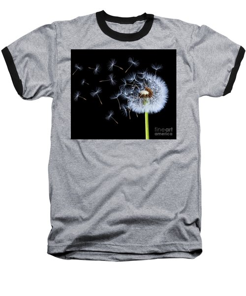 Baseball T-Shirt featuring the photograph Silhouettes Of Dandelions by Bess Hamiti