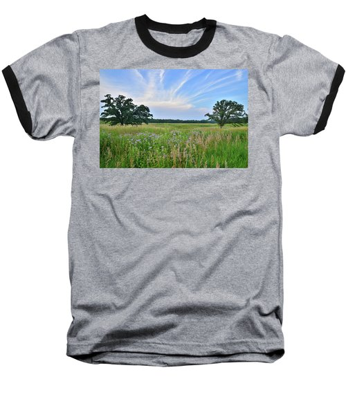 Silver Creek Conservation Area Sunset Baseball T-Shirt