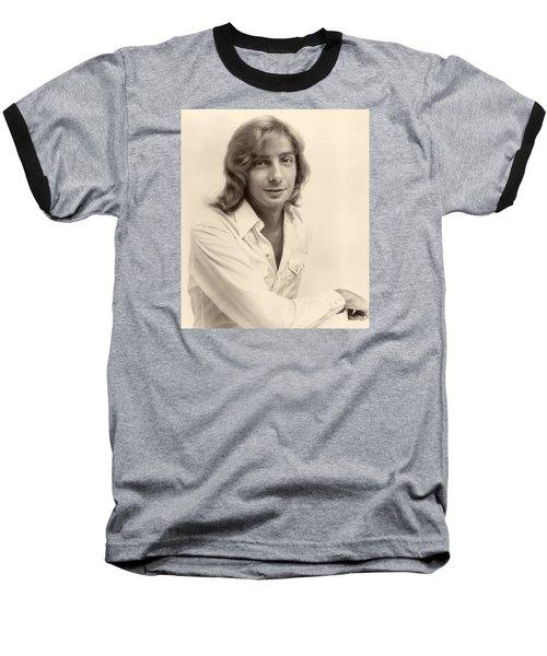 Singer Barry Manilow 1975 Baseball T-Shirt