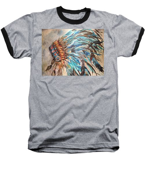 Sky Feather Baseball T-Shirt by Heather Roddy