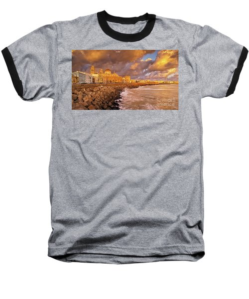 Skyline From Campo Del Sur Cadiz Spain Baseball T-Shirt