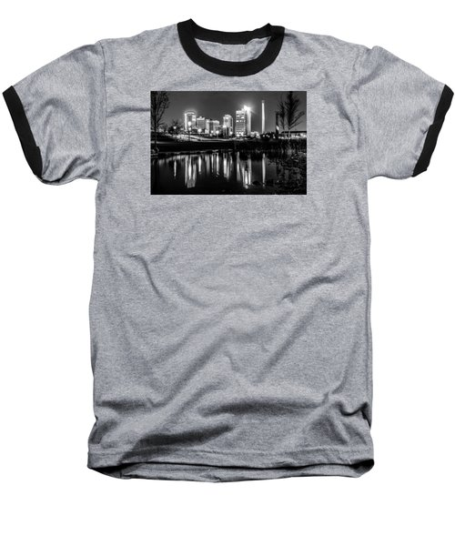 Skyline Of Birmingham Alabama From Railroad Park Baseball T-Shirt