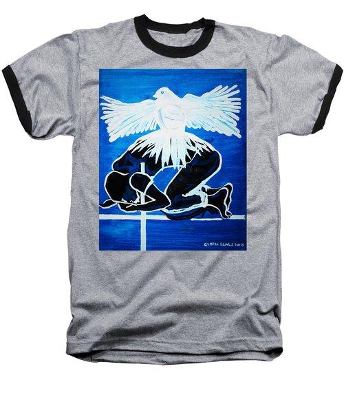 Slain In The Holy Spirit Baseball T-Shirt by Gloria Ssali